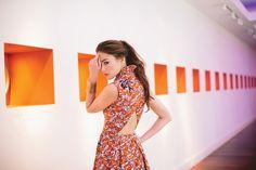 Elle Sasson dress, $695, Capitol; gold cuff, $68, KK Bloom; Mere earrings, $116, KK Bloom  Photo by Angela Cox Styled by Erica Hanks