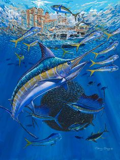 14 Best Art Of Guy Harvey Images Sea Life Art