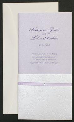 Einladungskarte flieder perlmutt Schmetterlinge fc551441