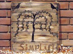 primitive simplify on distressed wood planks