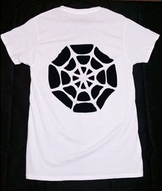 Spiderweb Cutout T Shirt / Goth Cut Out Tee by SassysEdgyDesigns