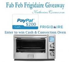 Fab Feb Frigidaire Giveaway It's time for another wonderful giveaway! TheFab Feb Frigidaire Giveaway ♥I am very happy to provide Katherines Corner readers with an opportunity to win a Frigidaire Convection Oven ( you can read my review HERE) valued at $175.00 courtesy of my friends at