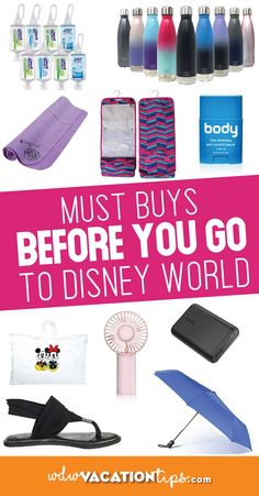 We are sharing what to buy before your Disney vacation from an online retailer, or from a store prior to your trip. All so you can save money and have more cash for your trip! Disney World Planning, Disney World Vacation, Disney Cruise Line, Disney Vacations, Disney Travel, Family Vacations, Disney World Tips And Tricks, Disney Tips, Disney Parks