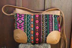 Boho Leder Tasche - gewebte boho Umhängetasche - indische Schultertasche - tribal - ethno - Damen Handtasche von ShantiShantiBoutique auf Etsy