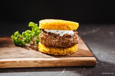 """Lamb Biryani Rice Burger Recipe - """"healthify this"""" for it to be part of our meal"""