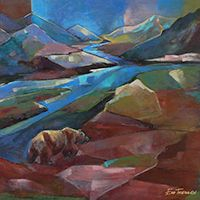 """Eva Thiemann has degrees from the Academie of Art and a Biology degree from the University of Riga, Latvia. """"When I came to Alaska from Latvia in 1997 I was overwhelmed by its beauty; I was able to observe Alaska's magnificent brown bears and painting them with Alaska scenery became my passion. In 2003 I came to Applegate, Oregon."""" Recently she has added owls to her repertoire. Please visit Eva's listing at www.soartists.com/visualartists/alpha/ve1.html#evathiemann for web links and contact…"""