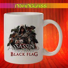 Assassins creed IV mug, assa... from Niyanglass on Wanelo