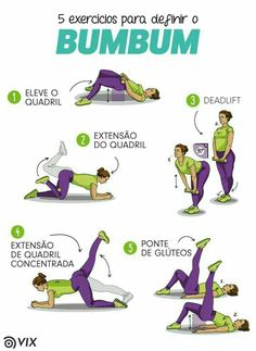 Exerc Cios Para Definir O Bumbum Bumbum Definir Exerc Übungen Para Definir O Bumbum Bumbum Definir Übung - Besondere Tag Ideen Physical Fitness, Yoga Fitness, Fitness Tips, Health Fitness, Dieta Fitness, Butt Workout, Gym Workouts, At Home Workouts, Loose Weight In A Week