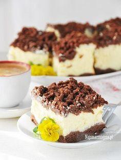 Przepis na delikatny i aromatyczny sernik królewski. Polish Desserts, Polish Recipes, Baking Recipes, Cake Recipes, Dessert Recipes, Sweet Desserts, Sweet Recipes, Yummy Eats, Yummy Food