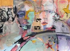 Tribute to a New Year-Figurative by Joan Fullerton Mixed Media ~ 15 x 22