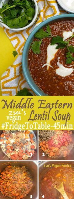 Zsu's Vegan Pantry: hearty middle eastern lentil soup