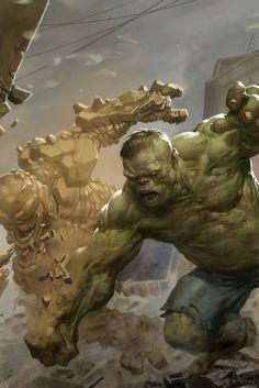 It's Clobberin' Time #thething vs #hulk