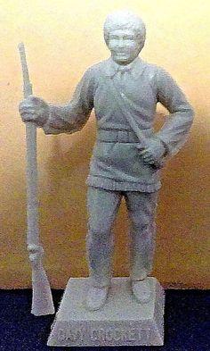 Marx vintage 1950's Famous American Davy Crockett square base character figure #Marx
