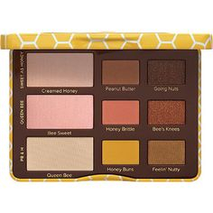 Too Faced Peanut Butter and Honey Palette, new for spring 2017