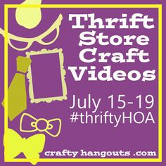 Thriftstore video challenge - the country chic cottage Diy And Crafts Sewing, Crafts For Girls, Crafts To Sell, Diy Crafts Videos, Craft Tutorials, Decor Crafts, Diy Home Decor, Thrift Store Crafts, Thrift Stores