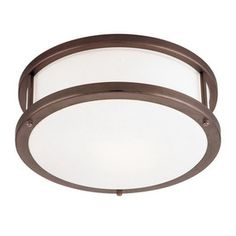 Would be nice in a hallway or entryway. Also comes in brushed steel. (Access Lighting Bronze Ceiling Flush Mount)