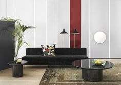 G10 lamps, Modern Line couch and Moon tables.