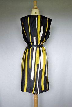 60s dress   op art silk shift dress by bitterrootvintage on Etsy d5ed8ee240dfa