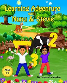 Now on Kindle Learning Adventure with Nunu & Stevie is an easy-to-read counting book. This book allows little ones to identify different colorful animals and fun objects on their adventure. Nunu and Stevie take readers on a tour of counting from 1–10, counting things they love on their journey!