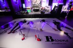 Signage from event sponsor Browns Shoes decorated the dance floor at Fashion Magazine's 35th anniversary event.