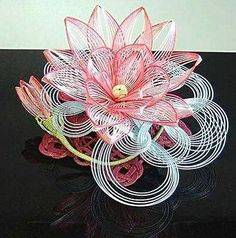 цветок из бумажных японских шнуров мидзухики