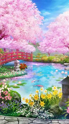 Anime Backgrounds Wallpapers, Anime Scenery Wallpaper, Wallpaper Space, Pretty Wallpapers, Galaxy Wallpaper, Fantasy Art Landscapes, Fantasy Landscape, Landscape Art, Walpapers Cute
