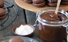 Chocolate Macarons with Salted Caramel Ganache