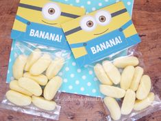 Minions traktatie zakje topper om zelf te printen. Kids Birthday Treats, 1st Birthday Party For Girls, Minion Birthday, Birthday Crafts, Party Crafts, Minion Candy, Minion Craft, Cricut Cake, Childrens Meals