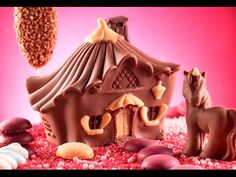 Video Tutorial Step by Step Come fare la Casa delle Fate di cioccolato - Stampo per creare la Casa delle Fate di cioccolato -House of Fairies chocolate mold Step by Step Video - La Maison des Fées moule à chocolat - Casita de Hadas molde de chocolate