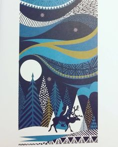 Sanna Annukka illustrated edition of Hans Christian Anderson's 'The Snow Queen' (christmas art beautiful) Christmas Illustration, Illustration Art, Christmas Art, Christmas Budget, Snow Queen, Linocut Prints, Grafik Design, Illustrations And Posters, Hans Christian