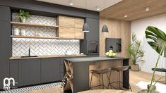 Szara Kuchnia: 20 Ciekawych Aranżacji i Pomysłów na Szarą Kuchnię Kitchen Cabinet Design, Kitchen Cabinets, Divider, Interior Design, Modern, Room, Furniture, Home Decor, Interior Styling