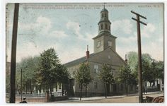 Paul's Church - Barrington Street - Halifax NS - Vintage Postcard for Like the St. Old Dominion, Colonial Architecture, Old Postcards, The St, Nova Scotia, Old Things, Canada, History, Street