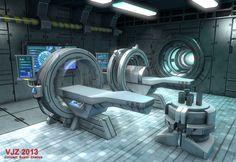 Sci-Fi Interior by Veejay Zaballa, via Behance