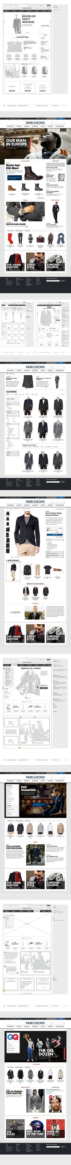 Park & Bond by Shalin Amin, via Behance  ***  Welcome Park and Bond, GILT's new foray into the world men's fashion. The site, which features a familiar list of more than 100 brands, including the likes of Thom Browne, McQueen, and N. Hoolywood, is a new shopping avenue in the content-retail space...