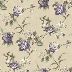 "Cottage Garden Gleason Rose 33' x 20.5"" Floral 3D Embossed Wallpaper"