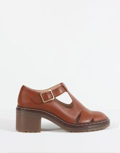 3382346004d6d Pull Bear - sale - woman footwear sale - cut-out shoes with buckle - leather