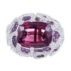SALAVETTI Pink Tourmaline Pink Sapphire Diamond Ring