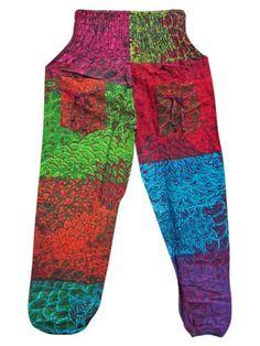 Harem-Pants-Bohemian-Cotton-Multi-Patchwork-Bellydance-Gauchos $18.00 Gypsy Pants, Boho Pants, Harem Pants, Pajama Pants, Boho Chic, Bohemian, Gaucho, Belly Dance, Kurti
