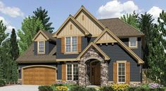 Dearborn House Plan - 5604... LoVE!...br. 3 is a little wierd and no kitchen island. small pantry.