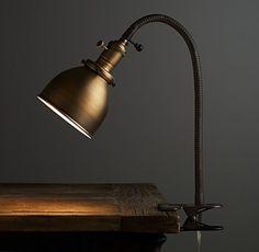 Industrial Era Vintage Clip Desk Lamp - desk-lamps