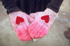 Fáciles guantes románticos...
