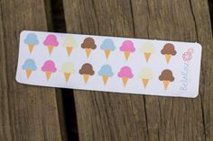 Perfect for your #planner use these ice cream cone stickers to bring some sweetness to your pages! #planneraddict #plannergoodies #stickers