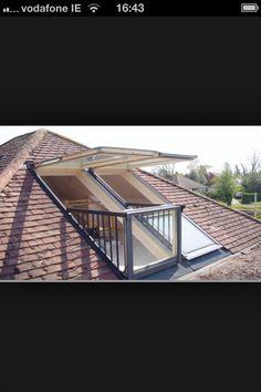 Attic conversion balcony