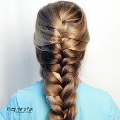 How to do a Goddess Braid Back To School Hairstyles, Fast Hairstyles, Holiday Hairstyles, Girl Hairstyles, Hair Tips, Hair Hacks, Medium Hair Styles, Short Hair Styles, Thick Braid