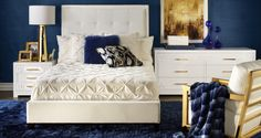 Inspired by this Riley Sapphire Bedroom Inspiration look on @ZGallerie