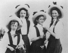 Left to right: Grand Duchesses Anastasia, Tatiana, Marie and Olga