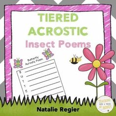 $ Insect Acrostic Poems: Tiered Writing Templates