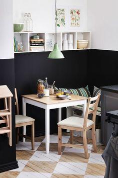 Corner Table - Small Kitchen Ideas - Designs & Storage (houseandgarden.co.uk) like the floor