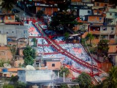 Painting of favelas of Rio de Janeiro by the team from Favela Painting and Philly Painting.