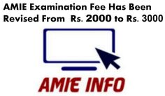 amie-examination-fees-has-been-revised